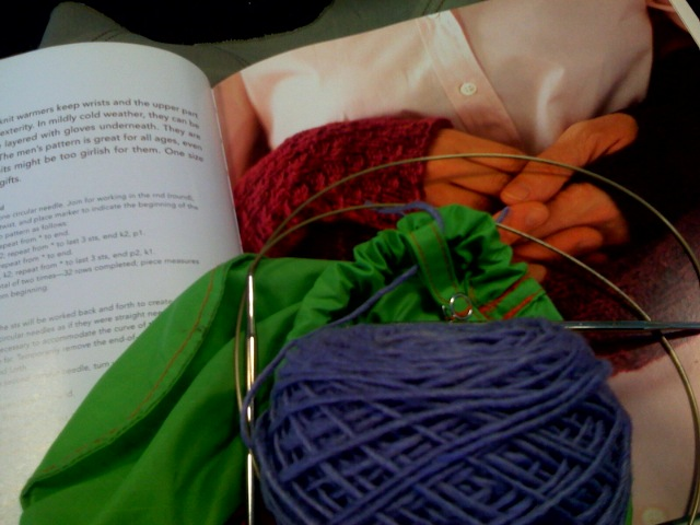 About to cast on some last minute airport gift knitting